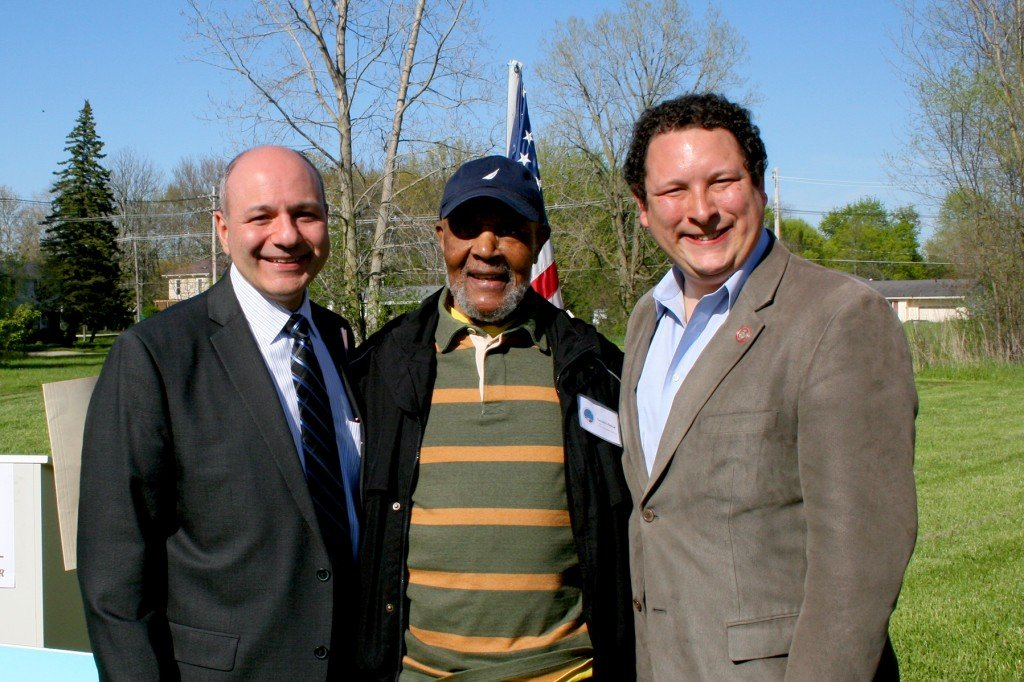 L-R: Interim City Manager Sal Talarico, OURCIT Chair George Abram, State Representative Dan Ramos